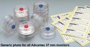 37mm monitor, 3-piece, MCE, 0.80µm, 16ml, white. For microbiological inspection of gases and liquids. Pack of 50