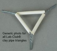 Clay pipe triangle, porcelain, side length 75mm