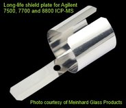Silver long-life shield plate for Agilent T-mode, 7500a/c/ce/cs, 7700, 7800, 7900, 8800