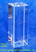 Flow cytometry cuvette, UV quartz, lightpath 2 mm
